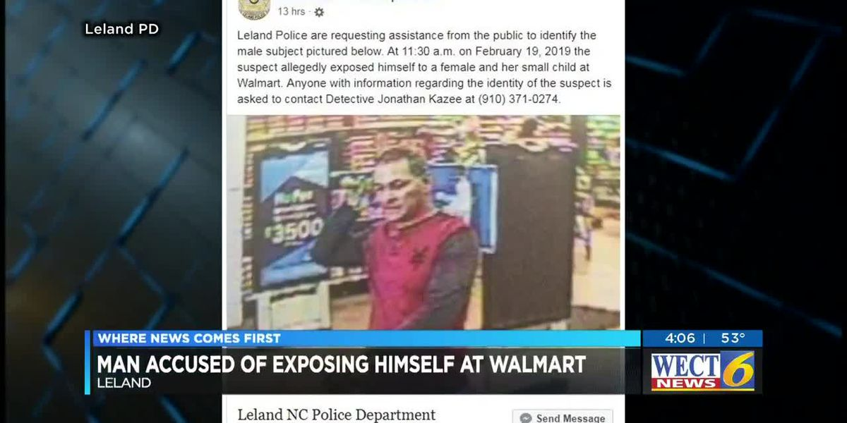 Leland police looking for suspect who allegedly exposed himself at Walmart