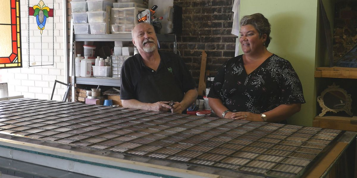 Historic glass tiles found in downtown building form meaningful replacement pane
