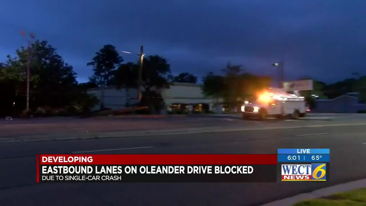 TRAFFIC ALERT: Early morning accident closes lanes on Oleander Drive in Wilmington