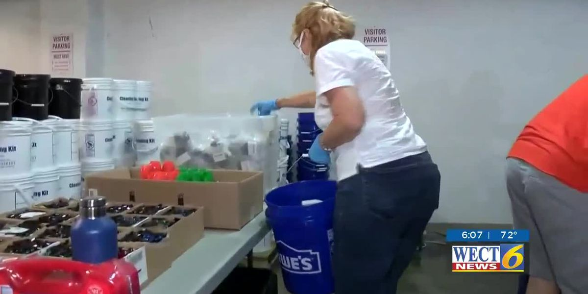 Hurricane preparedness kits handed out