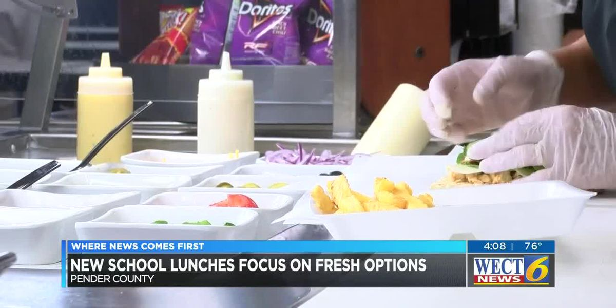 New Pender County school lunches focus on fresh options