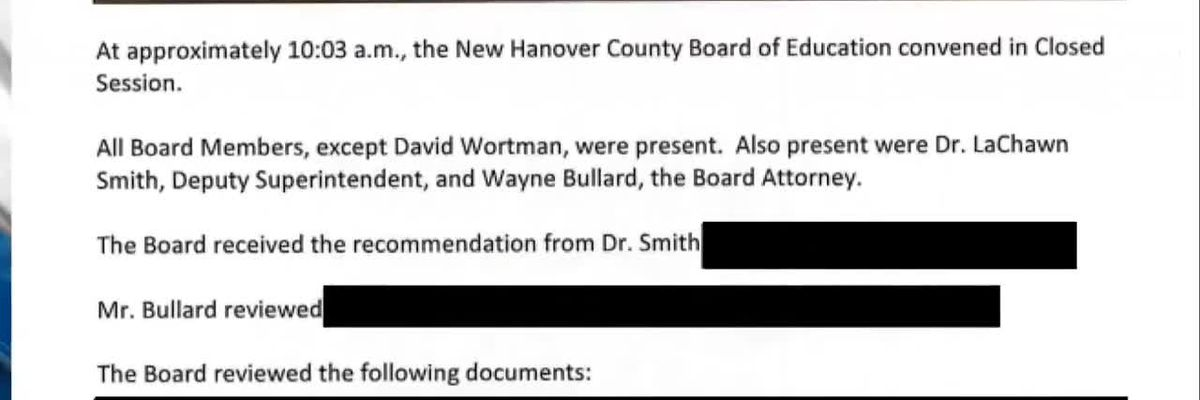WECT investigates the former NHC school superintendent's severance package