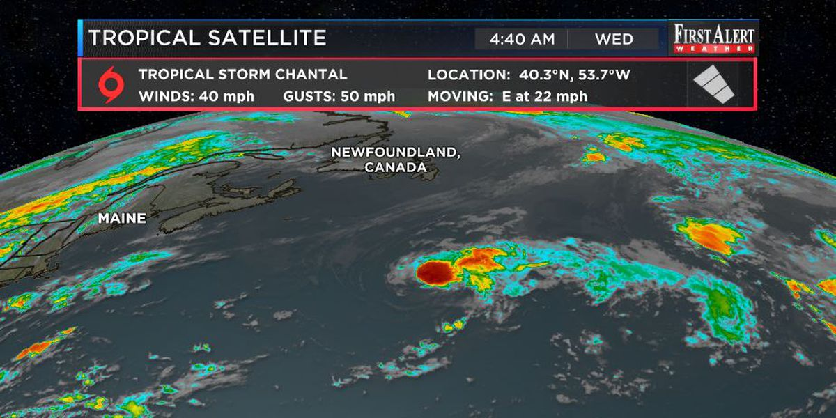 First Alert Forecast: T. S. Chantal forms surprisingly, 90s trending to 80s locally