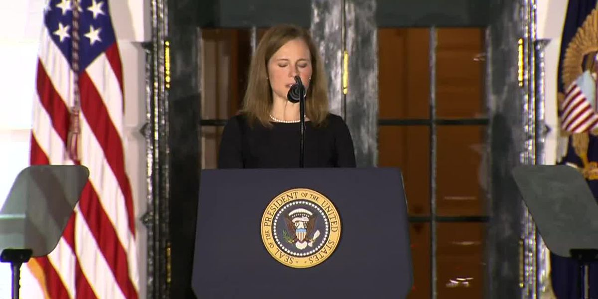 Amy Coney Barrett sworn in as Supreme Court justice