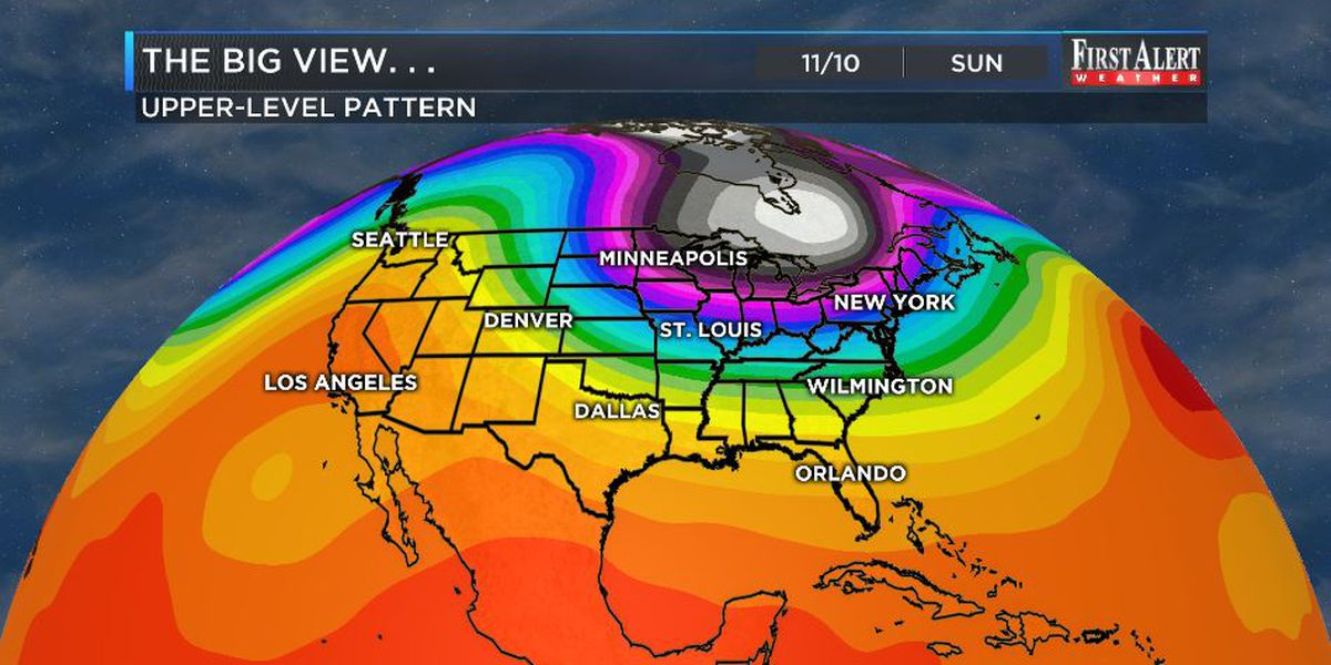First Alert Forecast: seasonable start to week, cold shot to finish