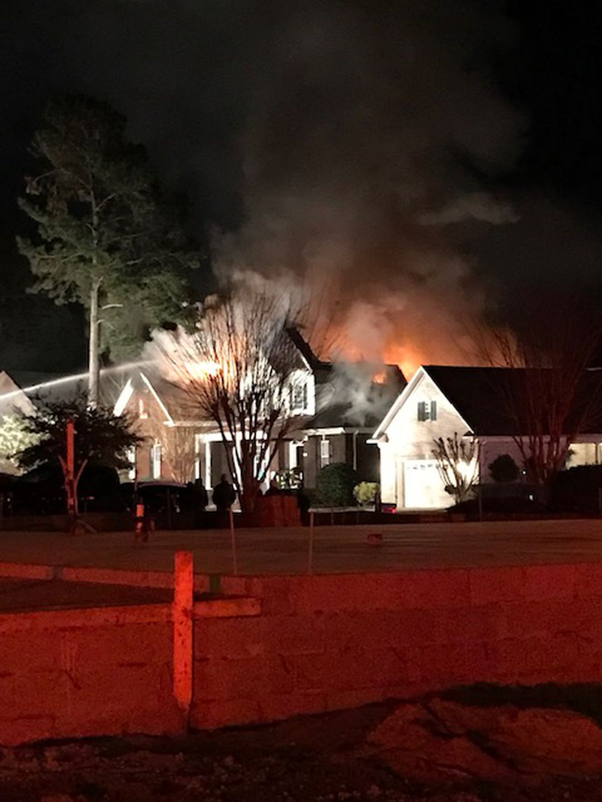 family escapes leland house fire with no injures  but home is a total loss