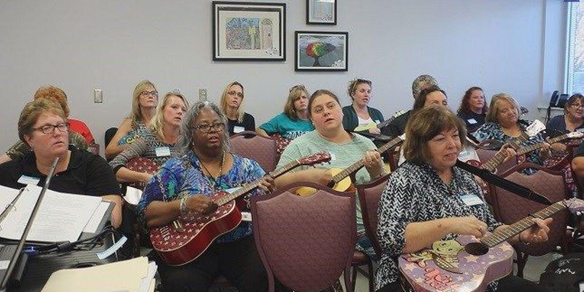 Brunswick Co. teachers learn ukulele and guitar to integrate into classroom