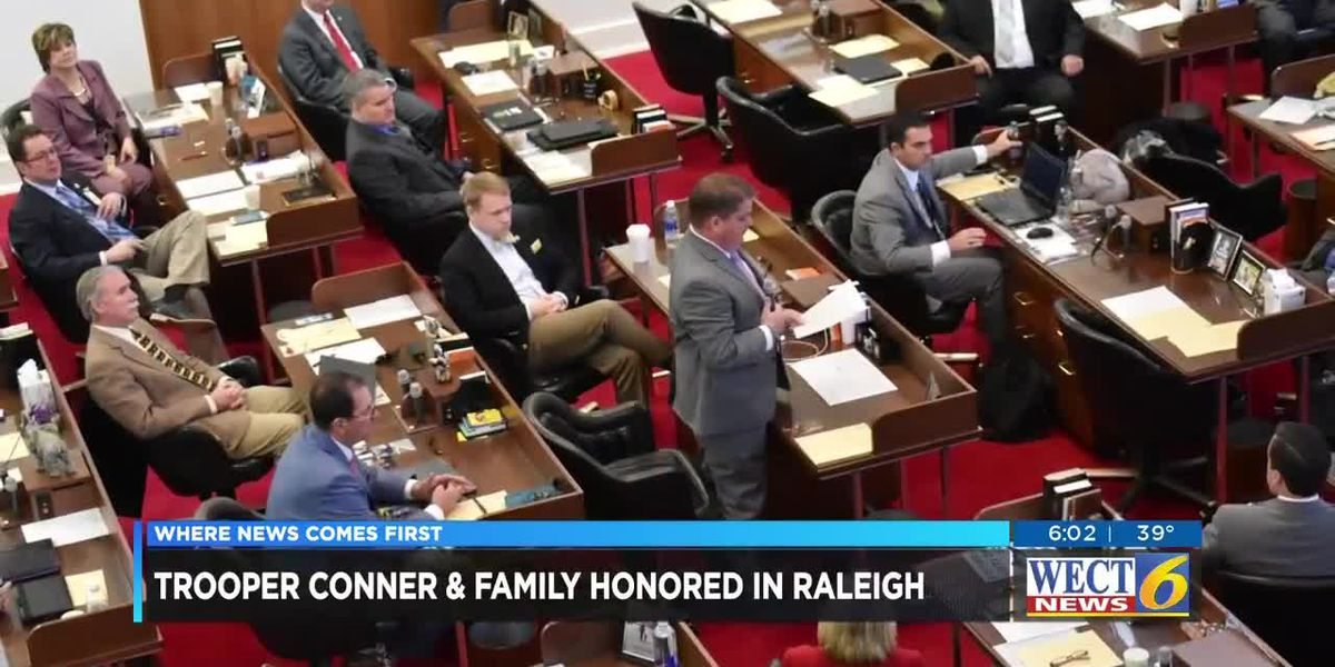 NC House of Representatives honors Trooper Kevin Conner