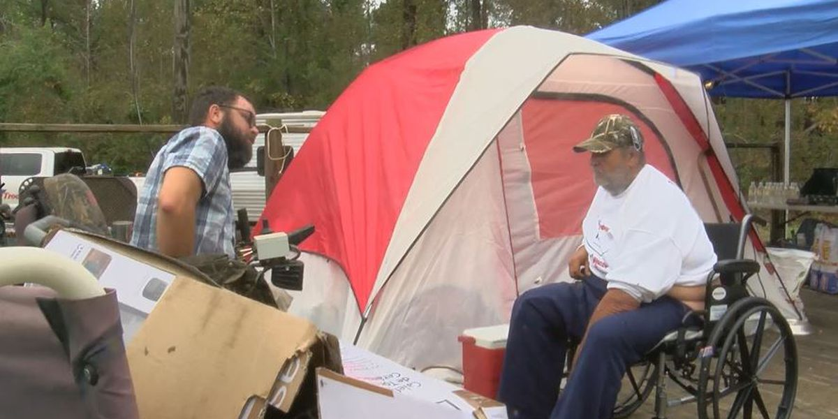 'I prayed for a miracle and it rolled in today': Disabled veteran reeling from Florence receives camper, new wheelchair