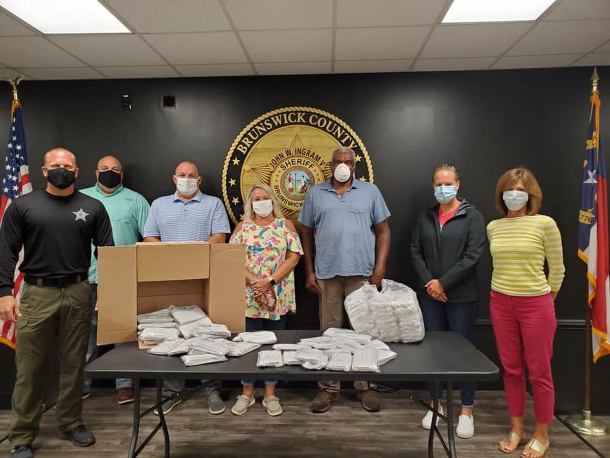 Hundreds of masks donated to sheriff's office by Brunswick County NAACP