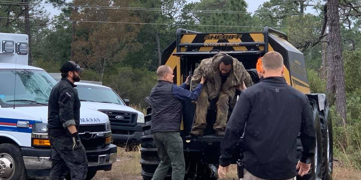 Sheriff's office rescues Brunswick Co. man who was lost in wooded area