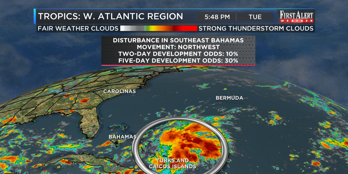 First Alert Forecast: heat rolls on, tropics stirring up