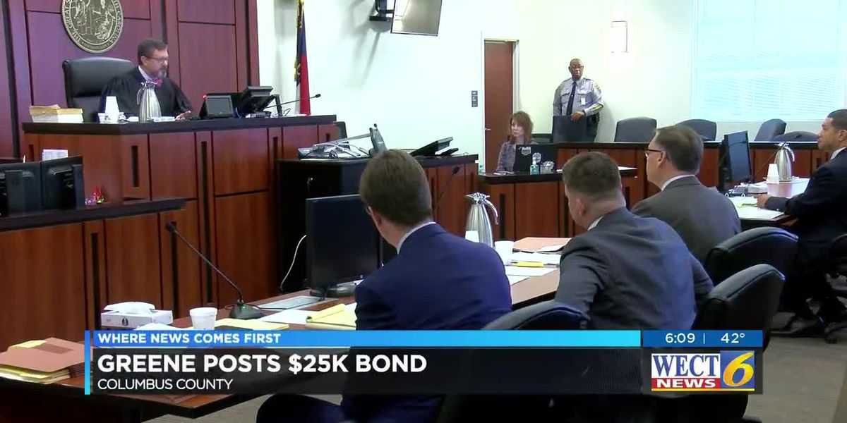 Greene pays $25K bond to keep sheriff's seat, for now