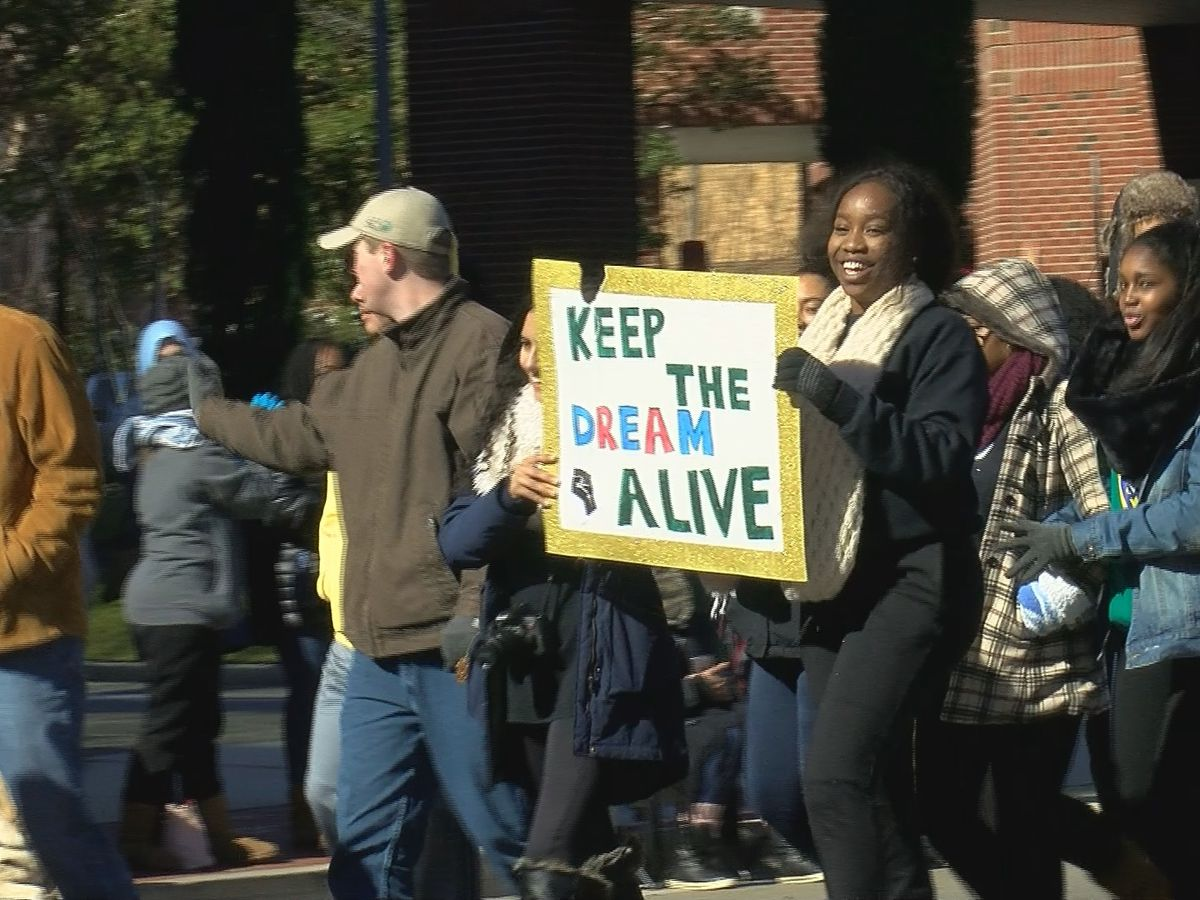 MLK Jr. Day Parade held despite frigid temperatures