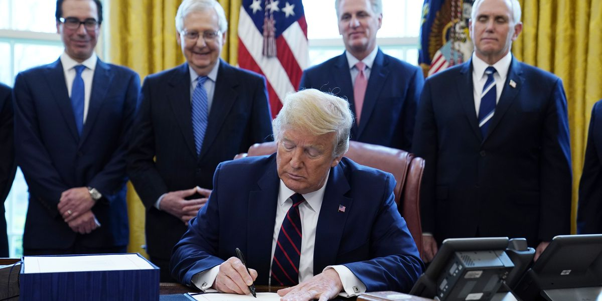 Trump signs $2.2T stimulus after swift congressional votes