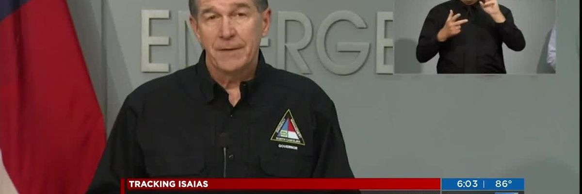 Governor Cooper on Isaias preparations