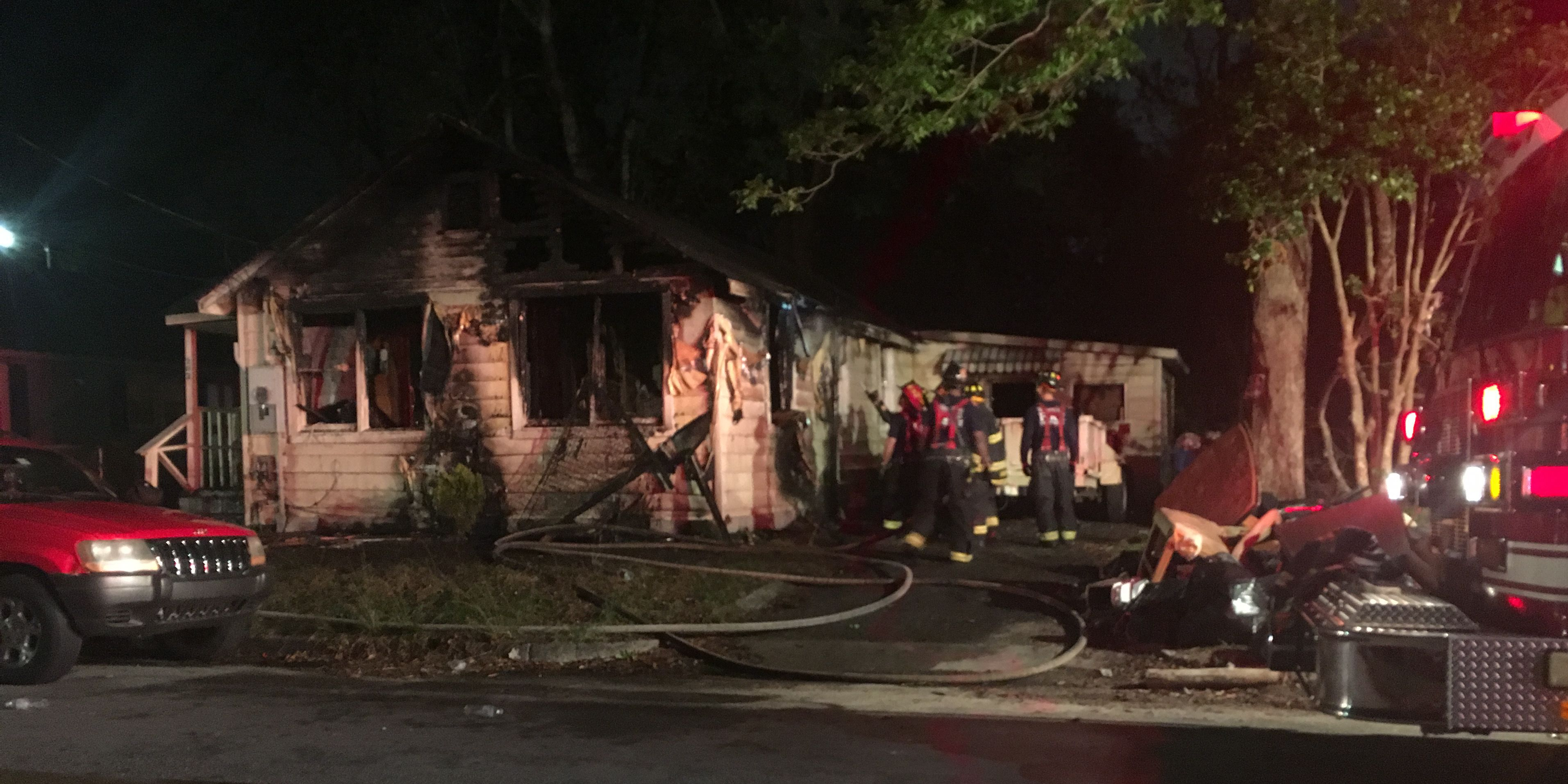 Family of seven escapes from burning home in Wilmington