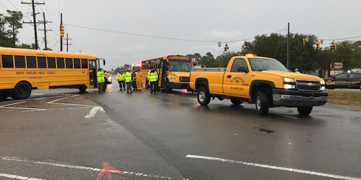 Driver taken to hospital after school bus accident, no students injured