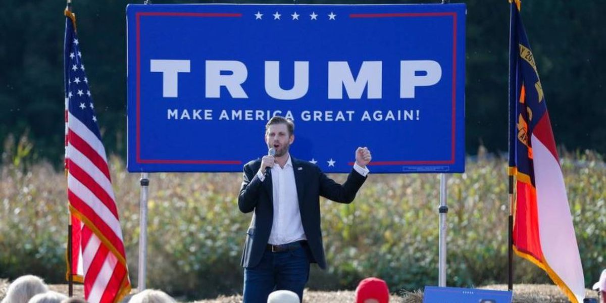 Eric Trump holding campaign event in Elizabethtown