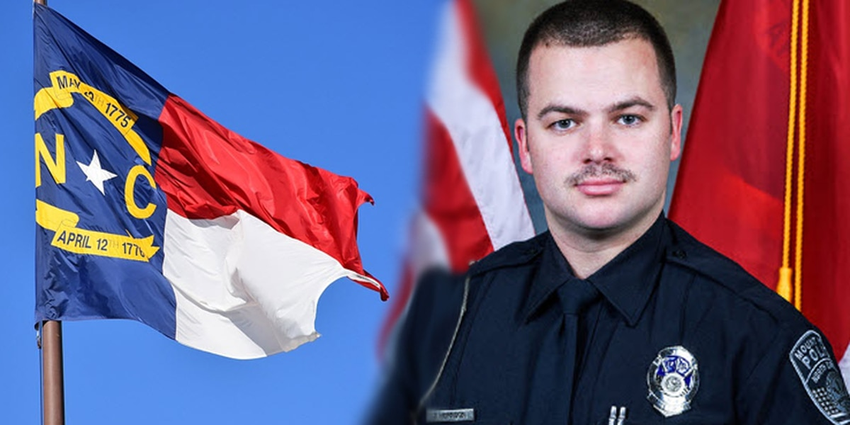 N.C. flags to fly at half-staff in honor of fallen Mount Holly Officer Tyler Herndon