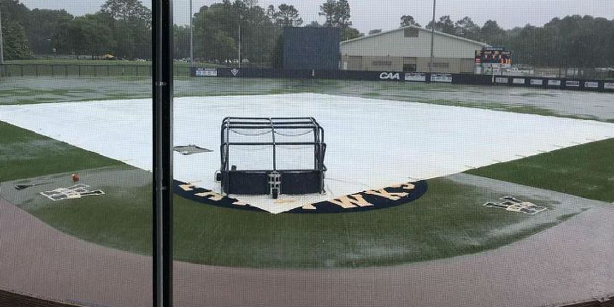 UNCW baseball rained out; Seahawks No. 4 seed at CAA tourney