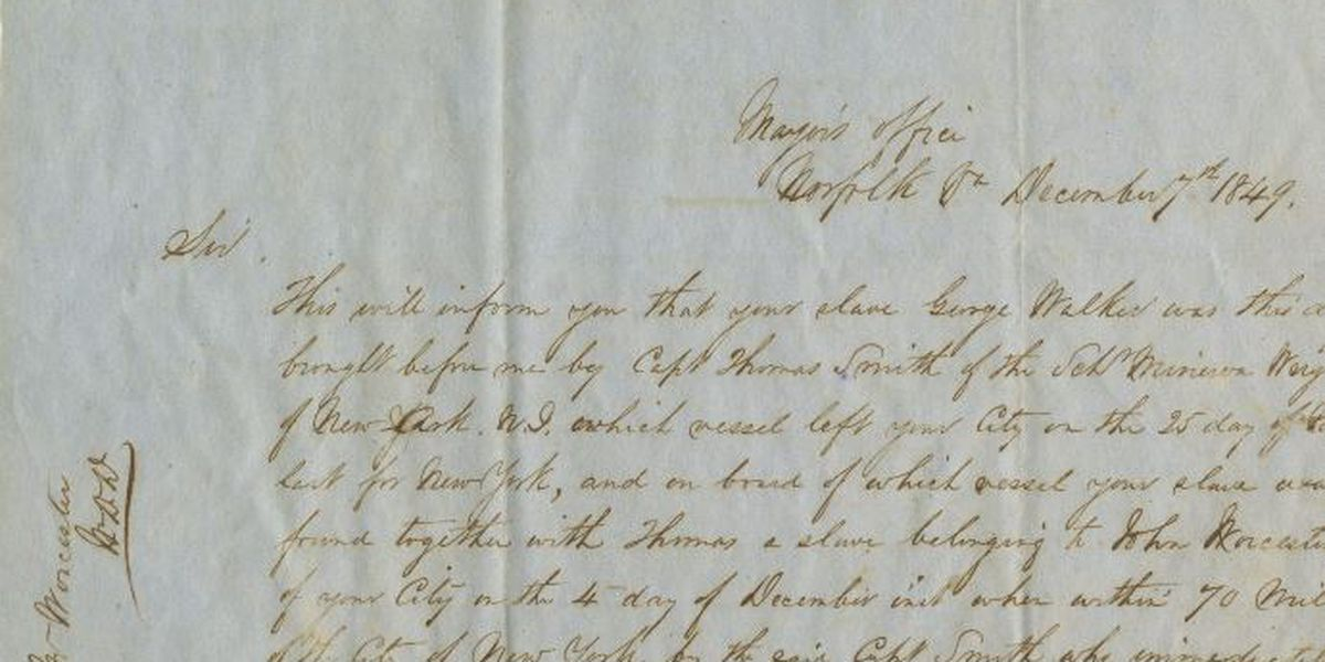 Letters donated to Cape Fear Museum show rare look into slavery