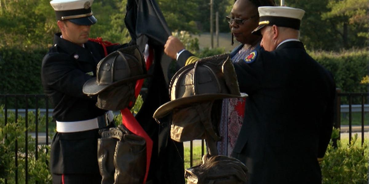 'Carolina Brotherhood' rides in memory of fallen Wilmington firefighter, Department dedicates memorial to him