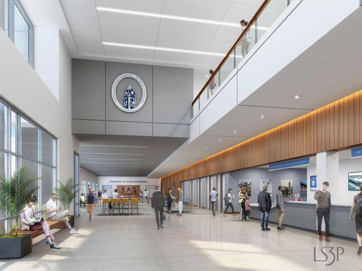 Preliminary plans for New Hanover County Government Center redevelopment submitted