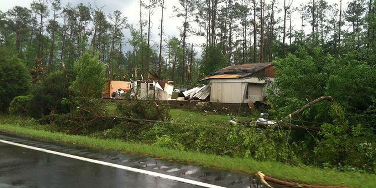 NWS finds 5 mile damage path after EF-1 tornado in Columbus County