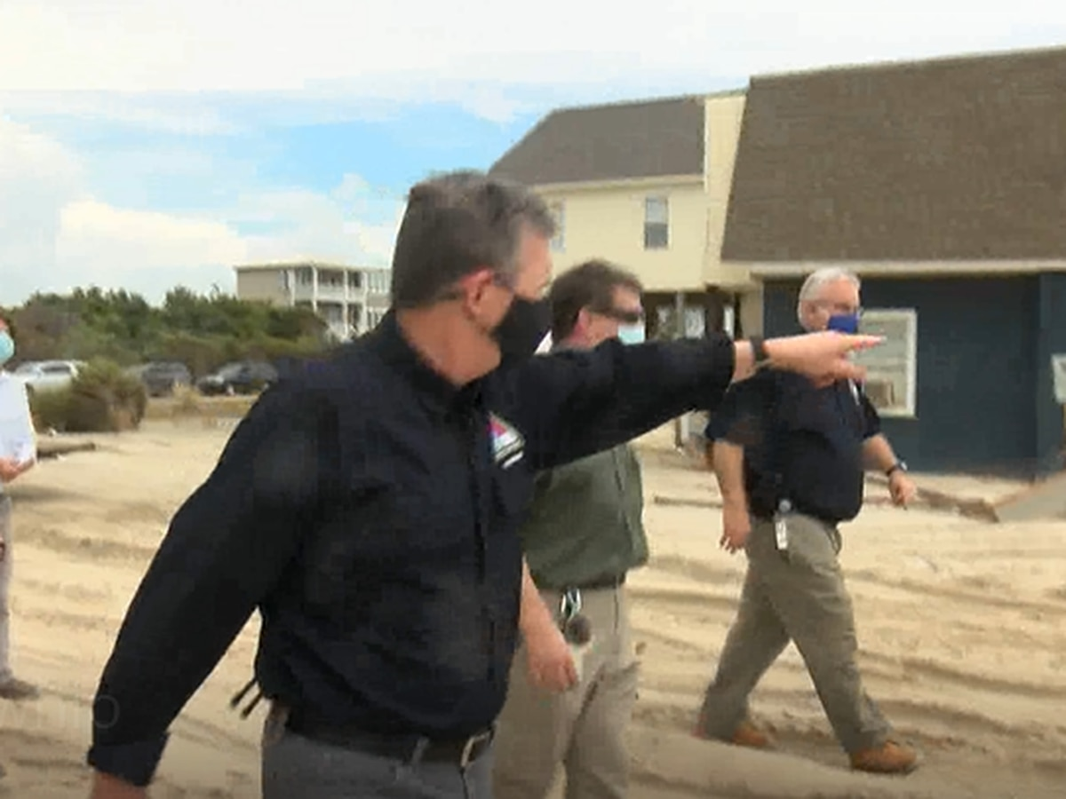 Gov. Cooper visits Brunswick County, tours Oak Island damages, says help is on the way