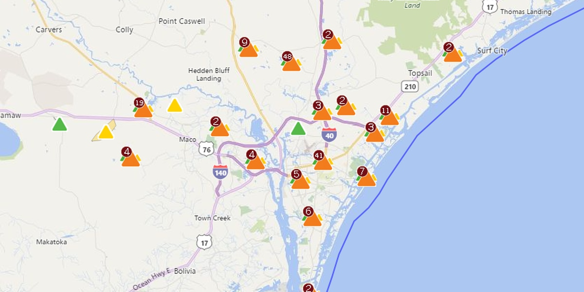 Power being restored to thousands in wake of TS Michael