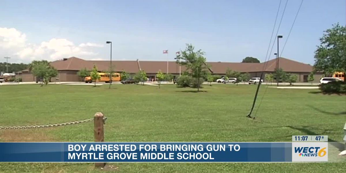 Middle school student charged for bringing a gun to school