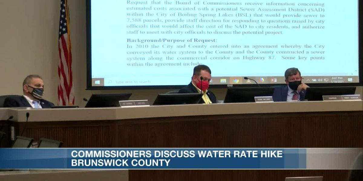 Brunswick County water rates could be on the rise