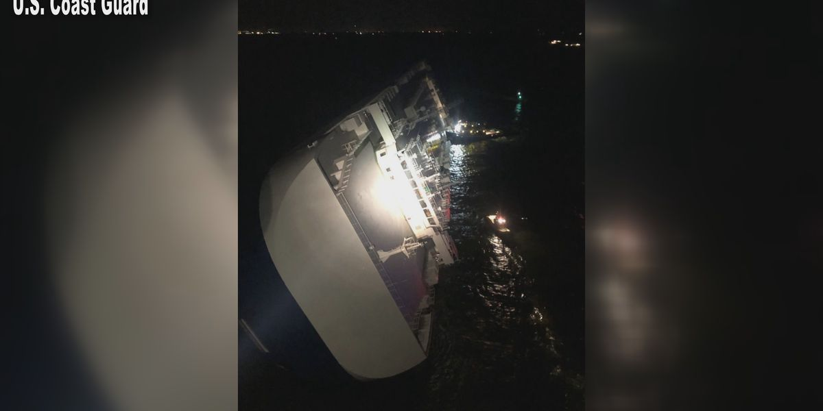 20 rescued, 4 missing after cargo ship tips off of Georgia coast