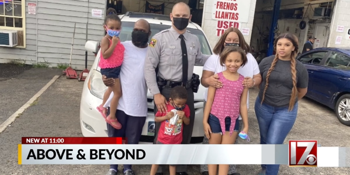 State trooper buys new tires, lunch, fills gas tank for NC family stranded for hours