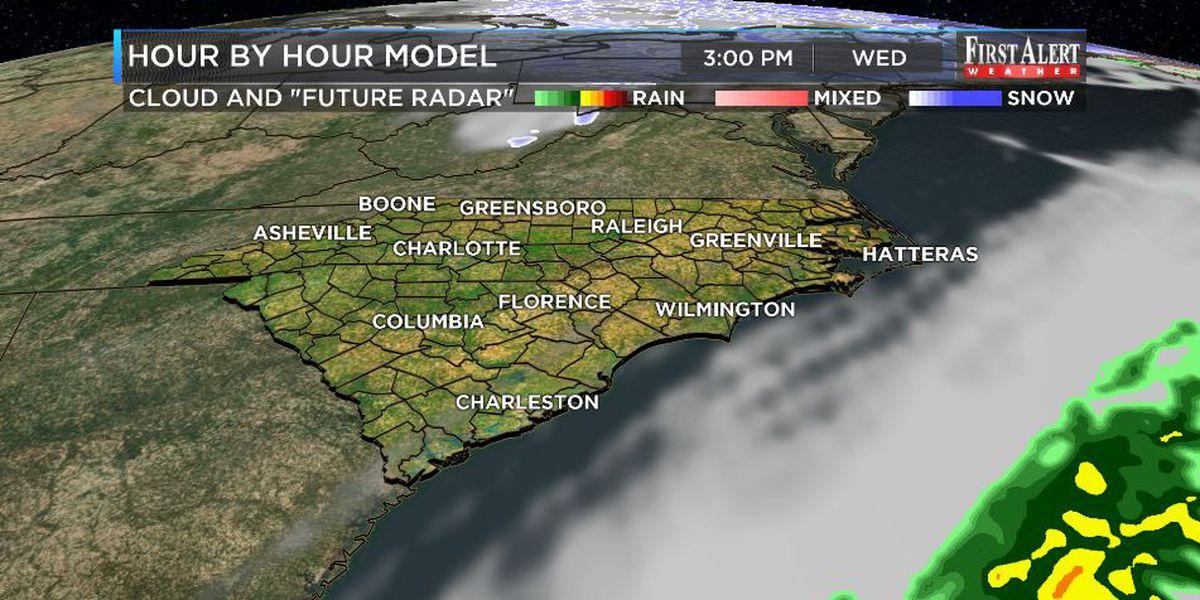 First Alert Forecast: clearing underway Wednesday, rain chances return for weekend