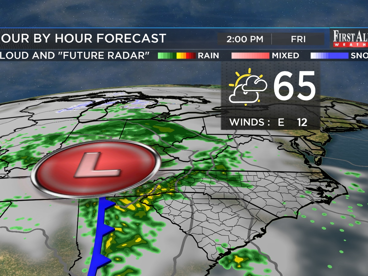 First Alert Forecast: moderating temperatures, eventual rain chances