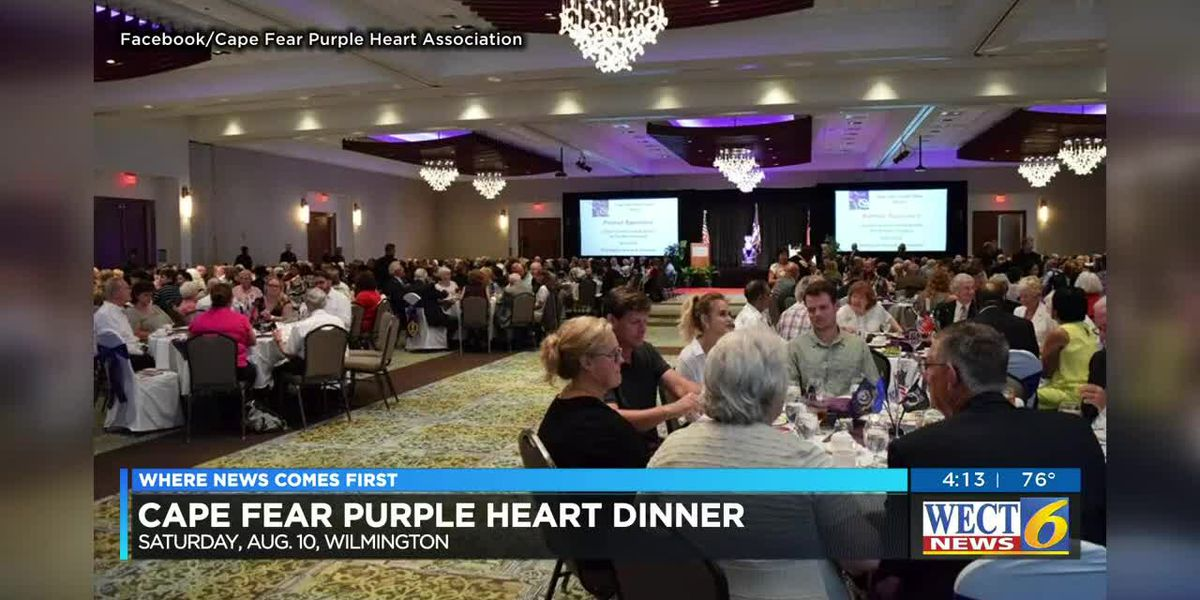 Dinner honors Purple Heart recipients in the Cape Fear region