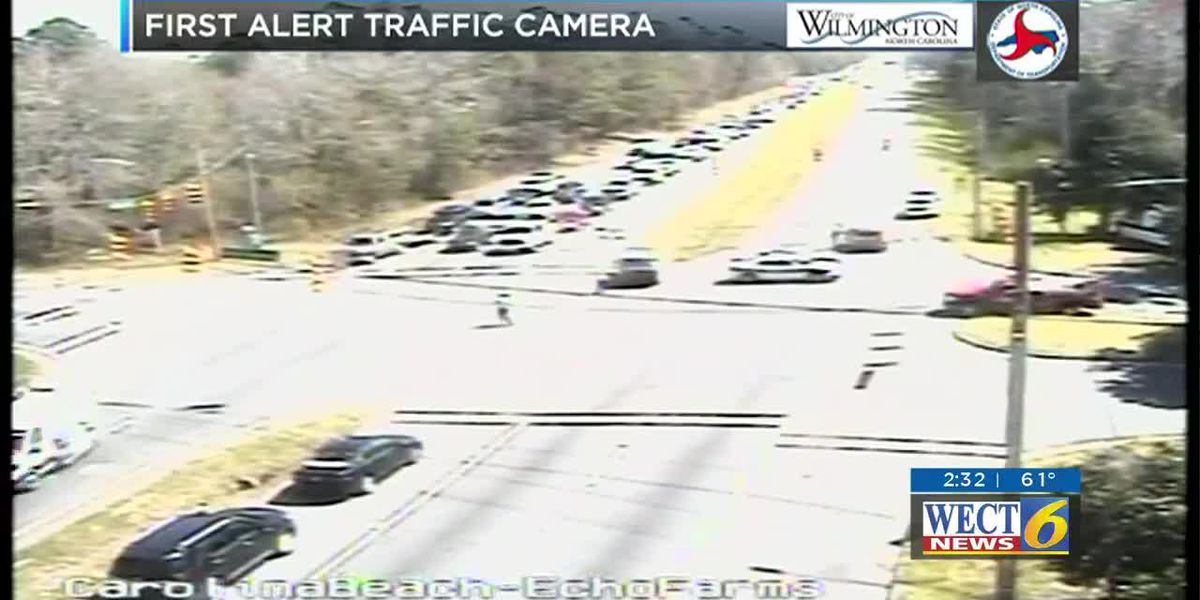 RAW: Accident causes major backups on Carolina Beach Rd.