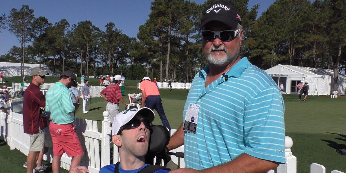 Son's handicap doesn't slow down fun at Wells Fargo Championship