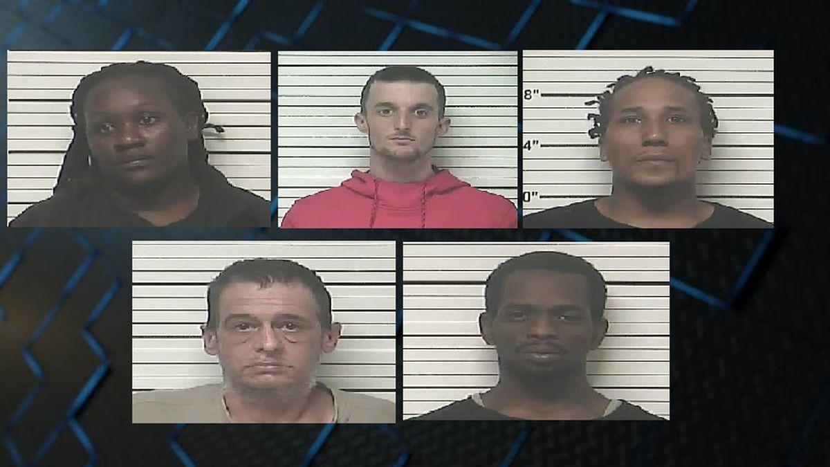 Investigation into drug sales at Bladen County home yields 5 arrests