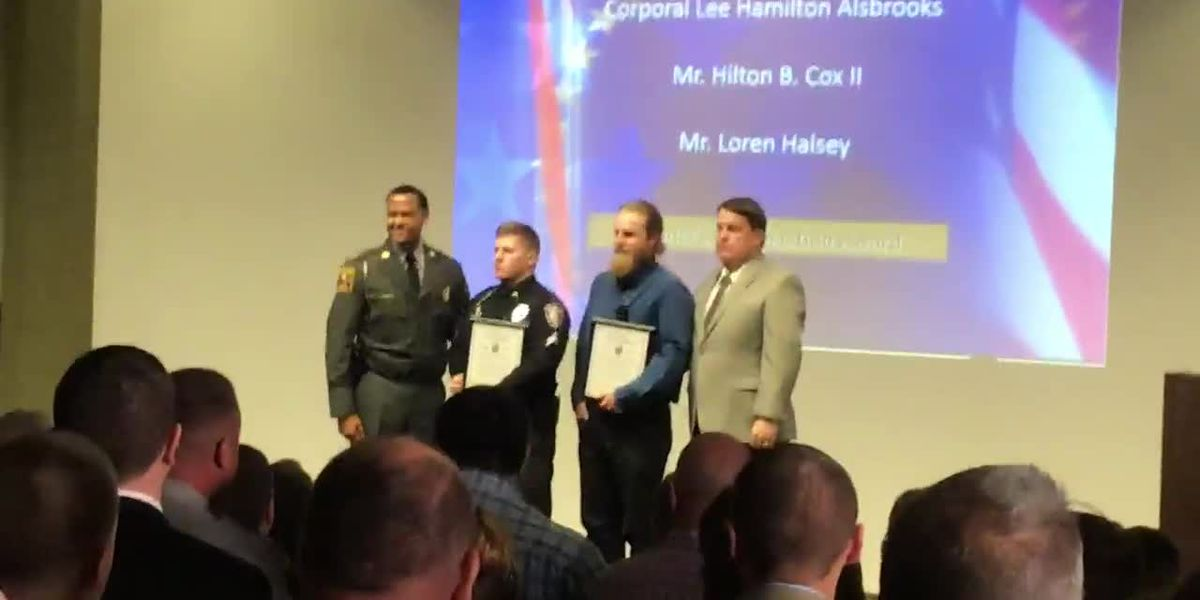 State Highway Patrol honors Fair Bluff officer who helped capture murder suspect