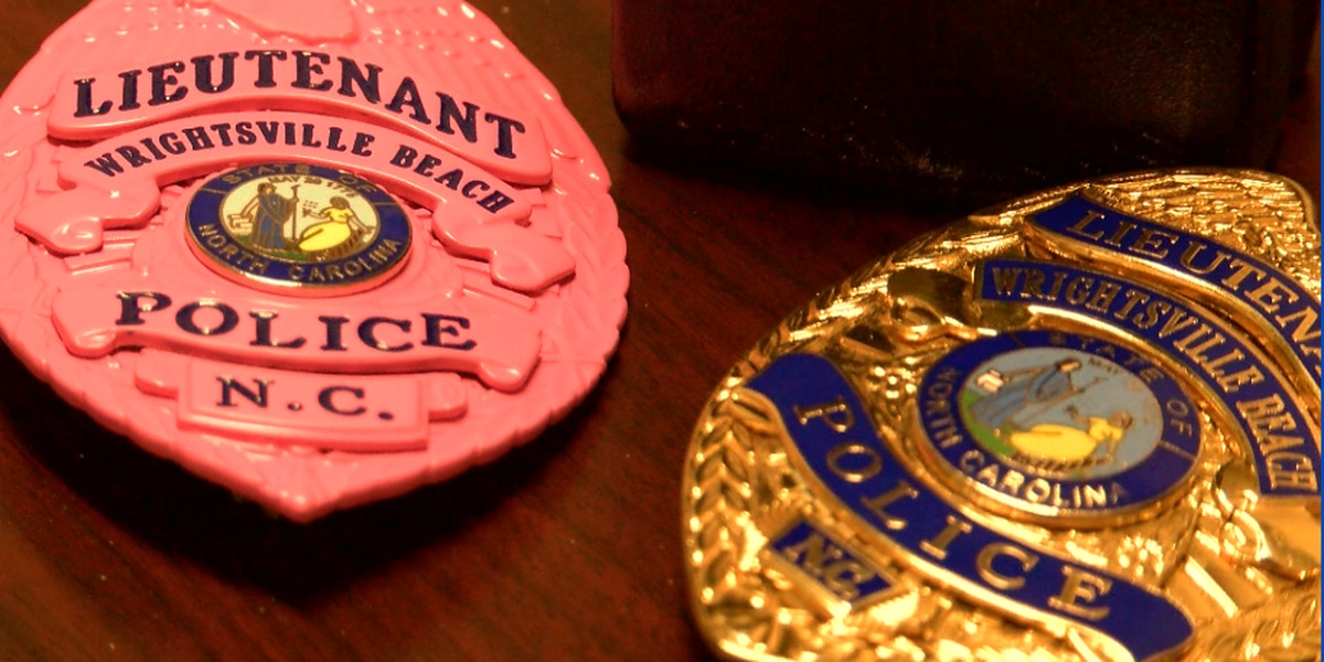 Wrightsville Beach Police Department wears pink badges for breast cancer awareness