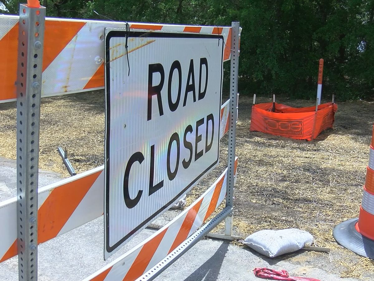 Section of NC 210 closing for culvert installation