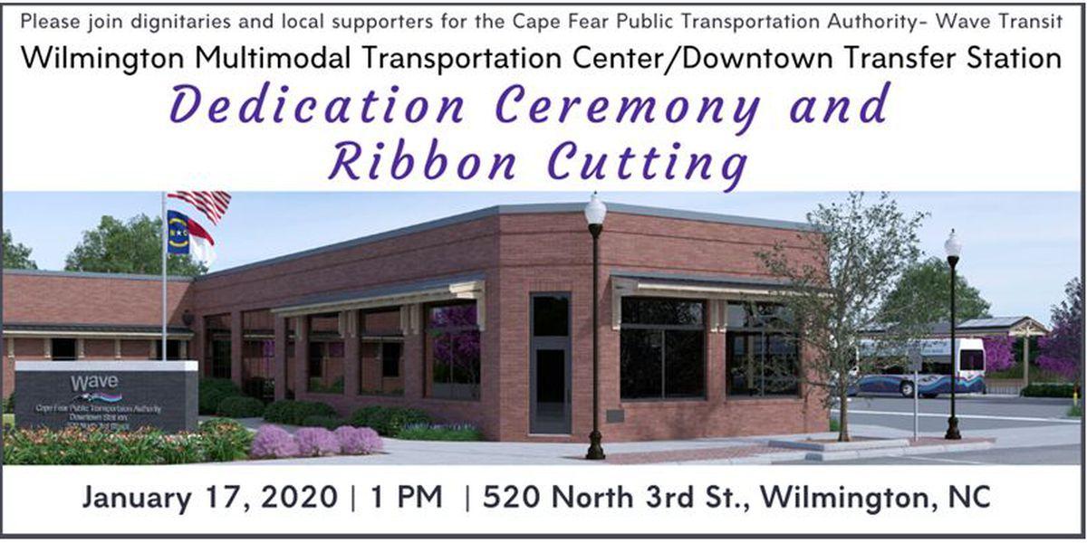 Transportation center/transfer station dedication set for Jan. 17