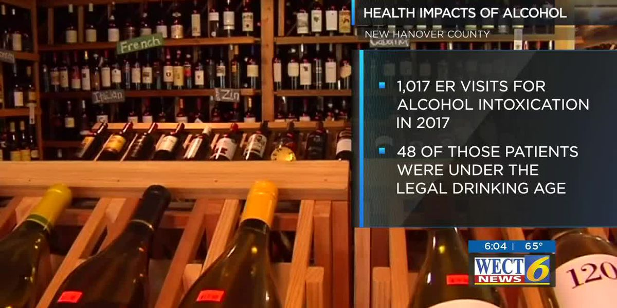 How much does excessive drinking cost New Hanover County taxpayers?