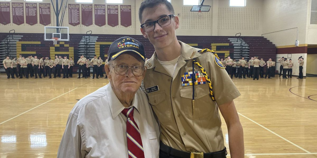 NJROTC cadet receives highest award for saving grandfather's life