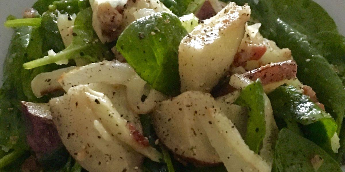 St. Patrick's Day recipe: Potato spinach salad