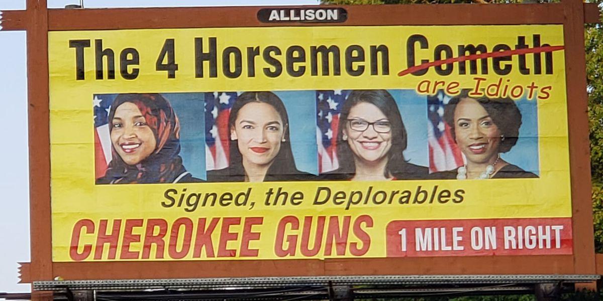 N.C. gun shop buys '4 Horsemen' billboard insulting congresswomen
