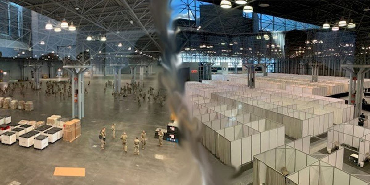 Ft. Bragg soldiers help build massive temporary medical station in downtown NYC